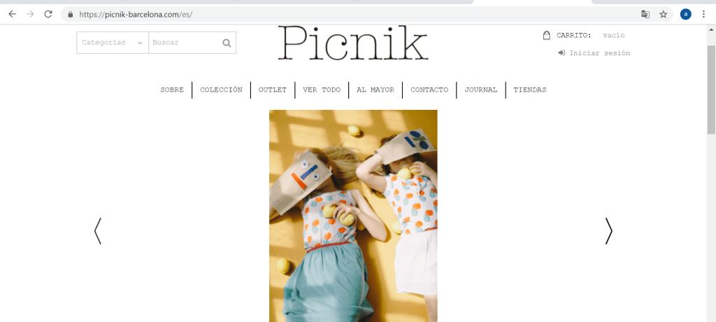 Picnik- marques espagnoles de vêtements enfants