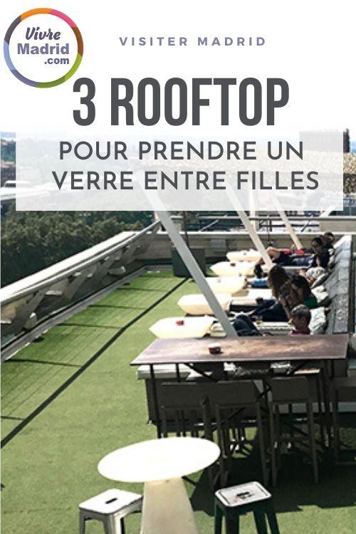 Bar rooftop à Madrid à faire entre copine