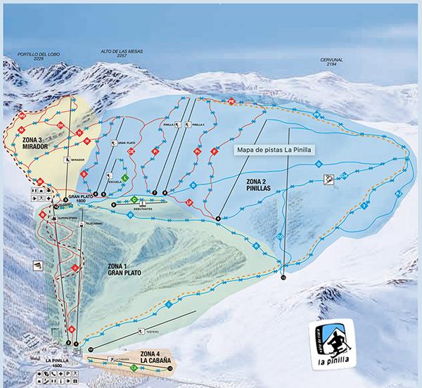 ou skier autour de madrid