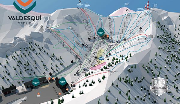 Valdesqui ou skier autour de madrid