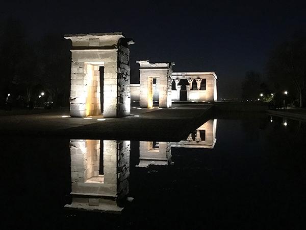 parcs à Madrid templo de debod