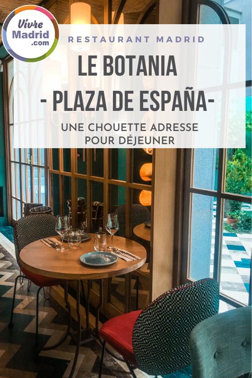 restaurant botania plaza espana madrid