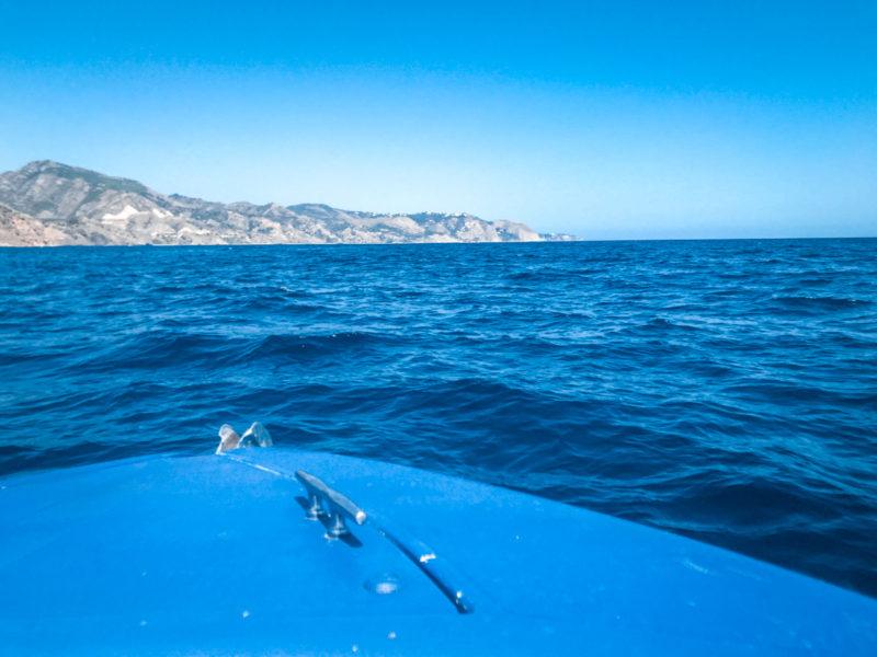 Nerja vue de la mer
