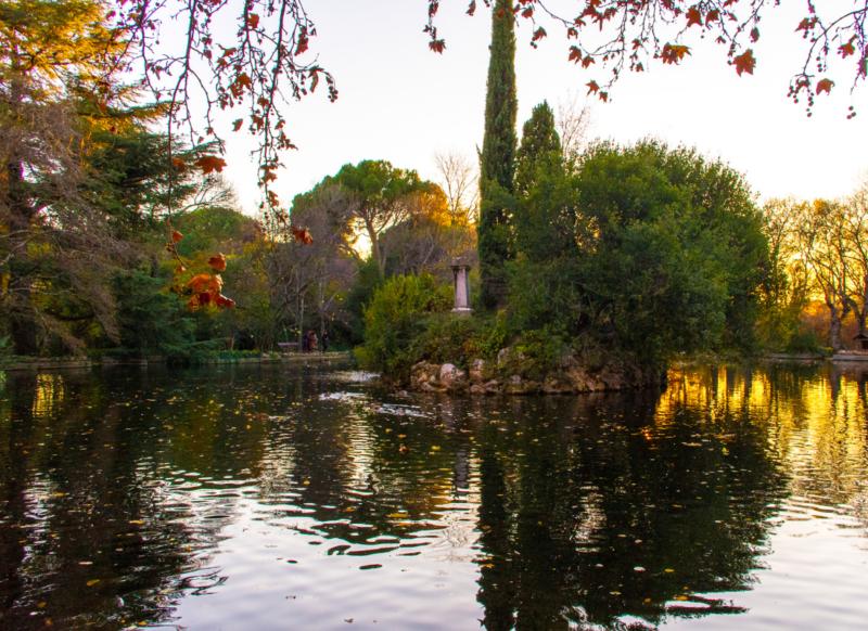 Jardins dépaysant dans Madrid