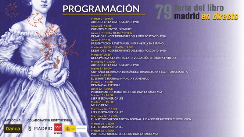 feria del libro madrid 2020 programme