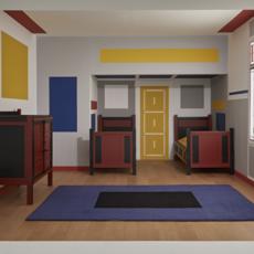 Exposition Mondrian y De Stijl au musée Reina Sofia.
