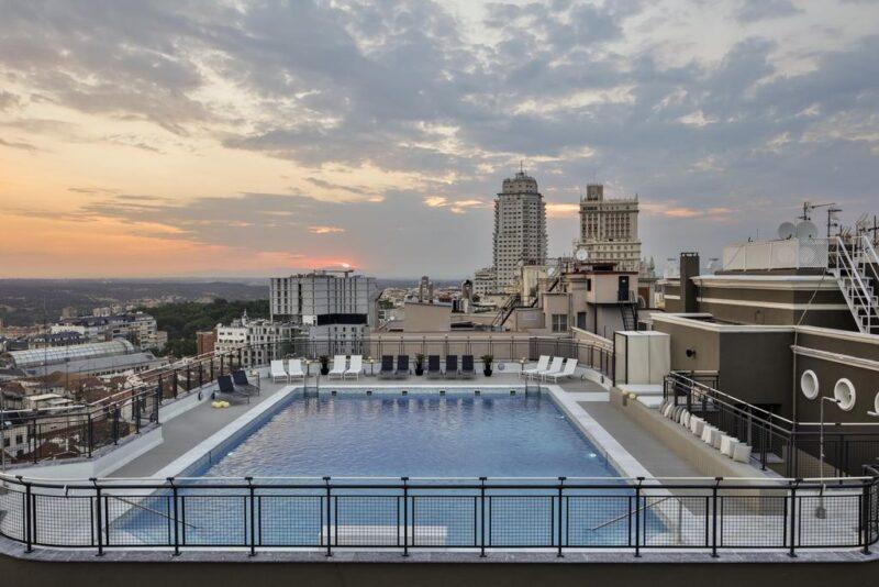 hôtel avec piscine madrid