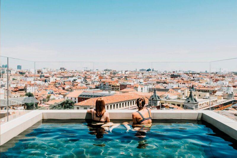 Hôtels piscine rooftop madrid