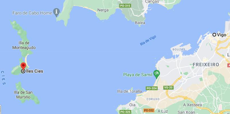 Visiter les îles Cies