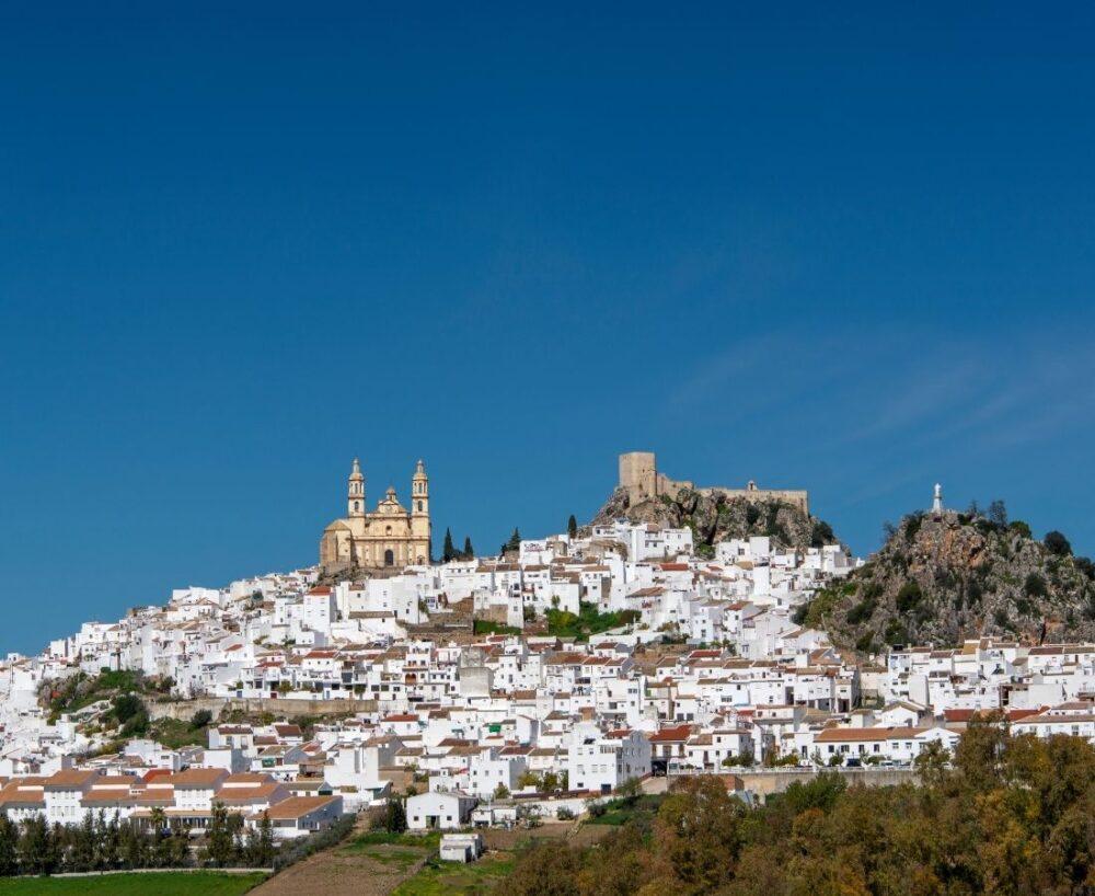 plus beaux villages blancs d'Andalousie Olvéra