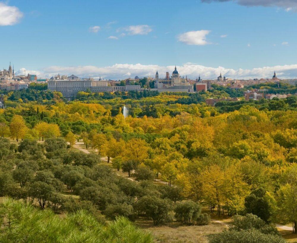 Madrid en automne casa de campo