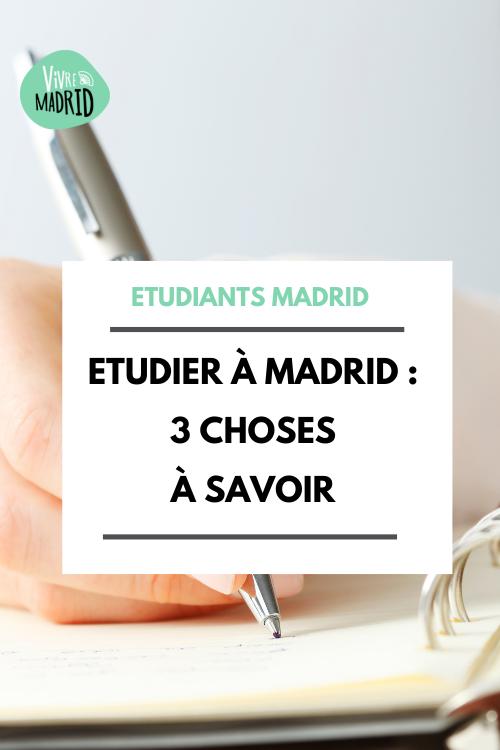 Etudier à Madrid