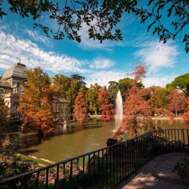 madrid en automne au retiro parc