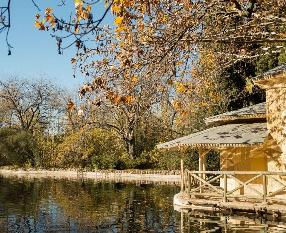 parque del capricho madrid en automne